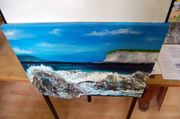 Rocks by the Sea (viewed from angle) by neville bottomley