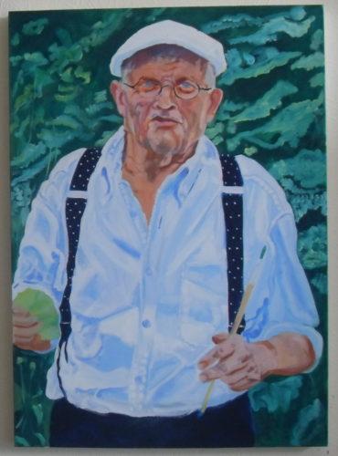 Porttrait of David Hockney by Peter David Cassin