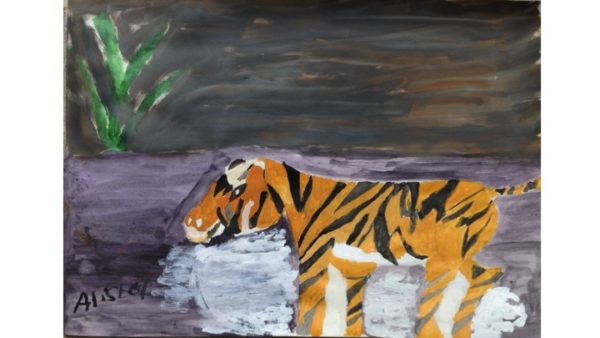 Saving the Tiger in the Wild by My oil paintings