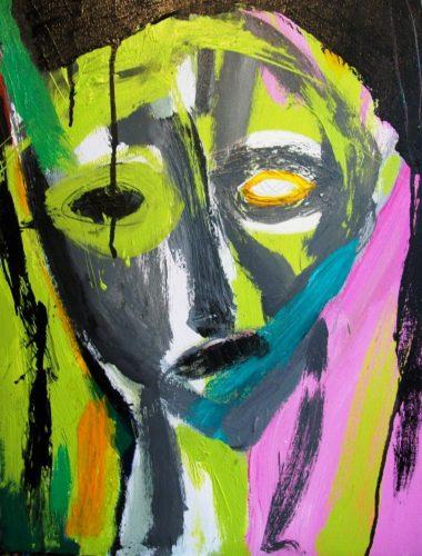 Woman Lime Rose by Jacqueline Jones