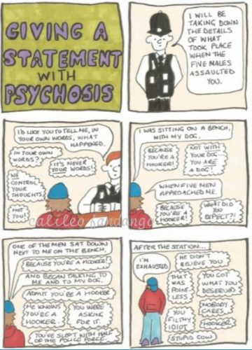 Giving A Statement (As A Psychosis Sufferer) by Medical Scrutiny