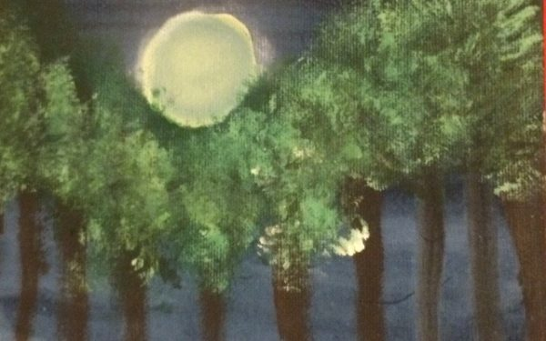 Tree's in the moonlight by Peacock
