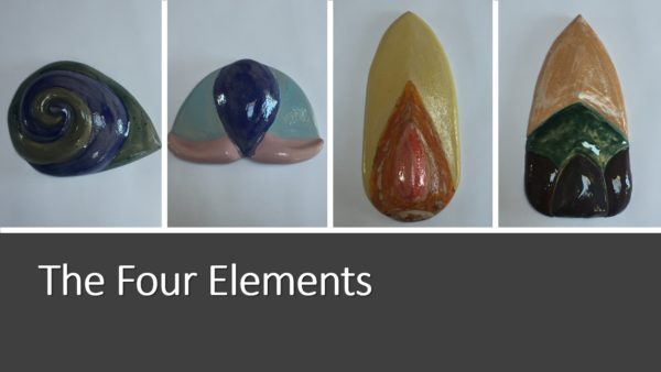 The Four Elements, water, air,fire,earth by J.K.Dolan