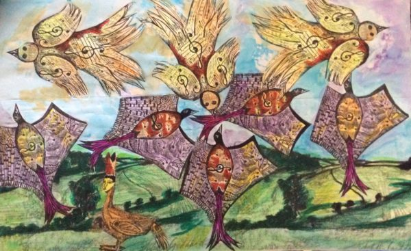 The Larks ascending series by Three wise men the Kandinsky inspired work Tunisa