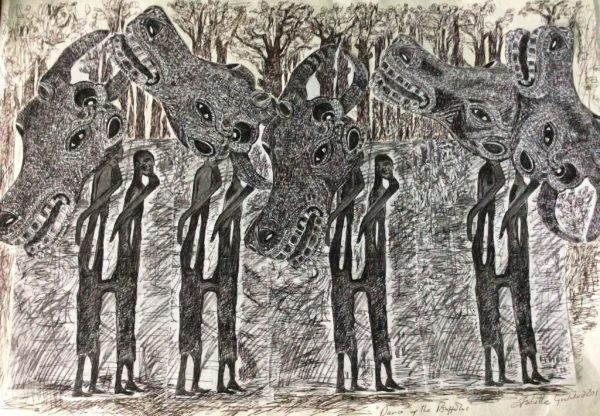Buffallo series drawing by Africian dream 2