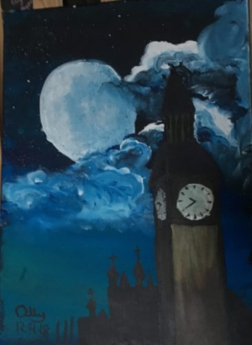 Big Ben in the night sky by My Disabled family