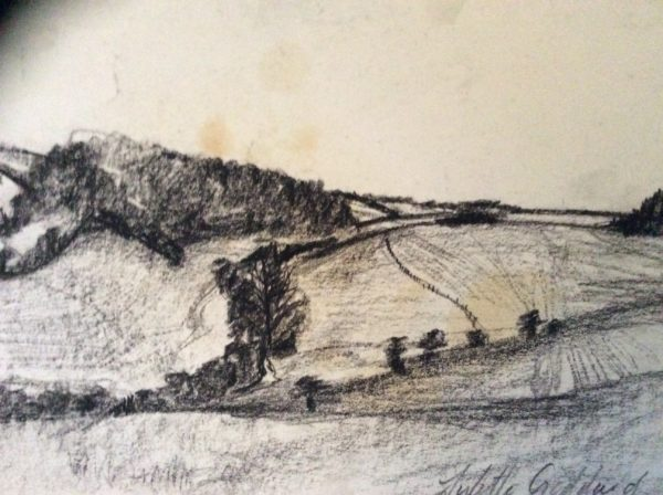 sketch landscapes of sussex by The Gothard Mountain path .