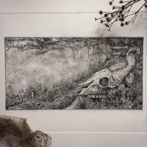 Untitled Etching by RoughStuff77
