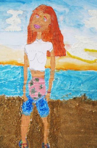 Girl-on-a-beach.jpg by My Disabled family