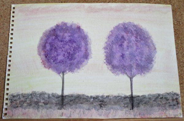 Purple Trees by My art unfolding