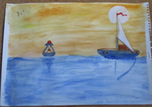 Sailing Boat by My art unfolding