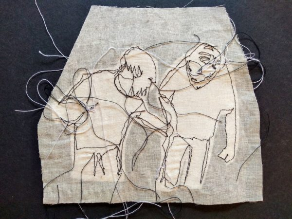 """A helping hand"" – Parkinsons Dance – Stitch by Kat Pugh"