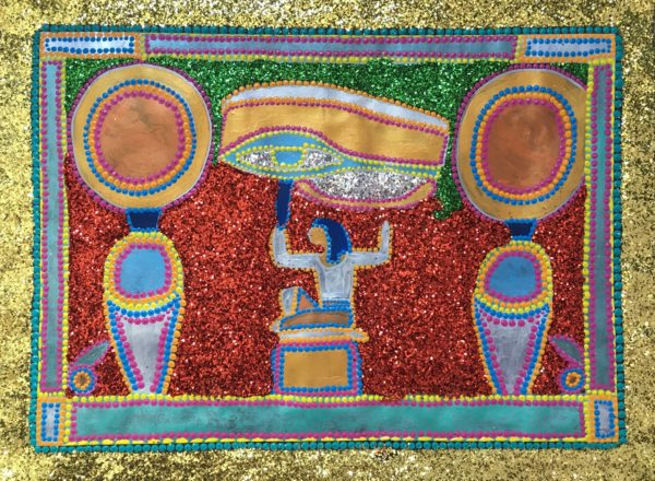 The Memory of Egyptian King by Glitter Landscape and Trees