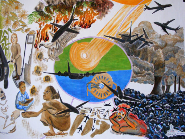 Banner for Campaign against Climate Change by Marisa Rehana Mann