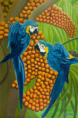 Blue and Gold Macaws by Marisa Rehana Mann