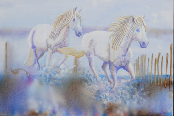 Horses Running by Marisa Rehana Mann