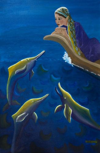Indus Dolphin by Marisa Rehana Mann