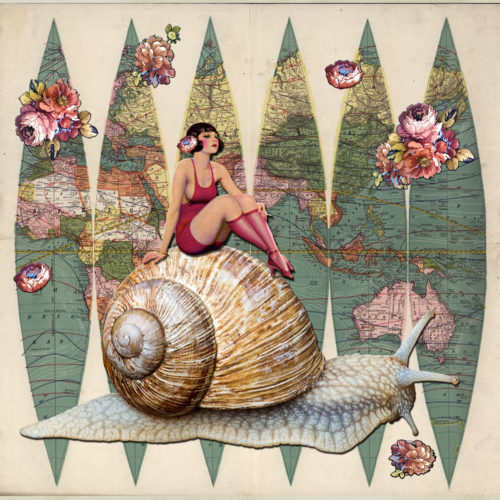 Slow Ride by Regina Lafay  Bellamy Collage
