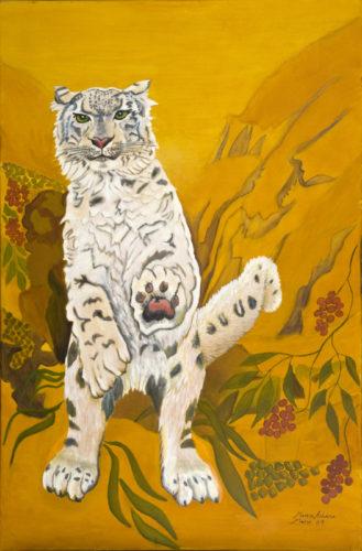 Standing Snow Leopard by Marisa Rehana Mann