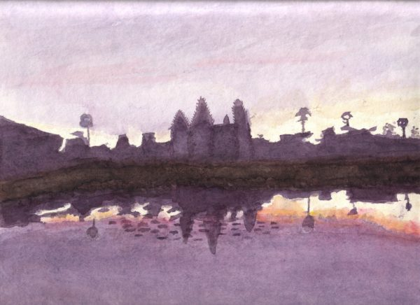 sunrise at anker wat by Linda Slater