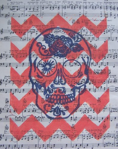 Musical Calavera by Space Kitty