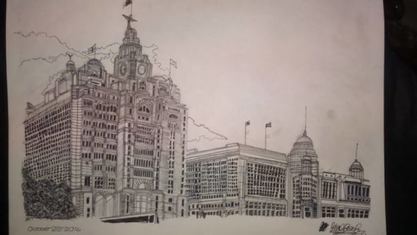 Royal Liver Building, Liverpool by Babajide Brian's Artwork