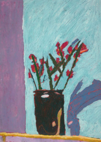 Flowers, Vase and Shadow by Martin Sloss
