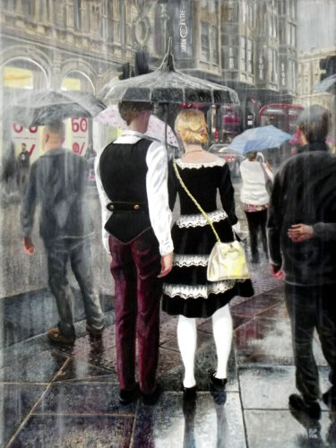 Piccadilly Rain by Peter Poole