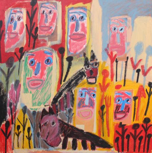 Many Masks and a Dog by Tommy Mason