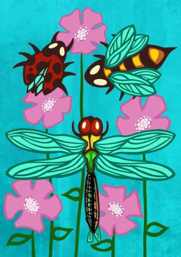 Insects with Flowers.jpeg by Casey Cooper