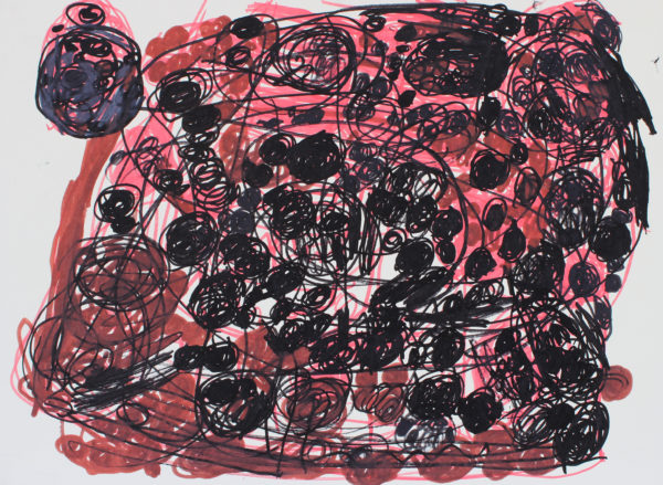 Untitled 4 (Black and pink) by Anne Marie Reese