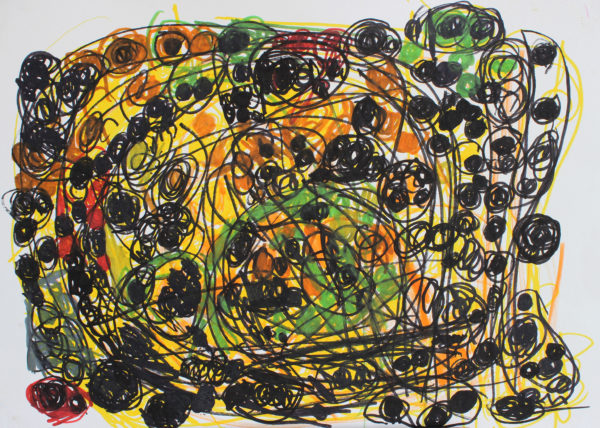 Untitled 7 (black, green, yellow) by Anne Marie Reese