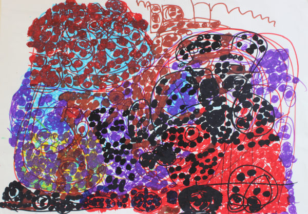 Untitled 5 (Red and Purple) by Anne Marie Reese