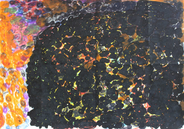 Untitled 6 (Black and orange) by Anne Marie Reese