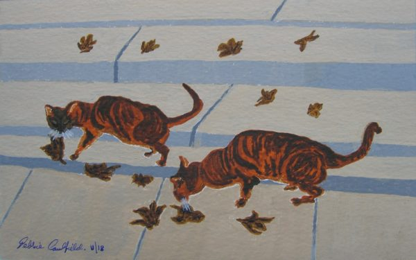 Autumn Cats by Autumn Squirrels