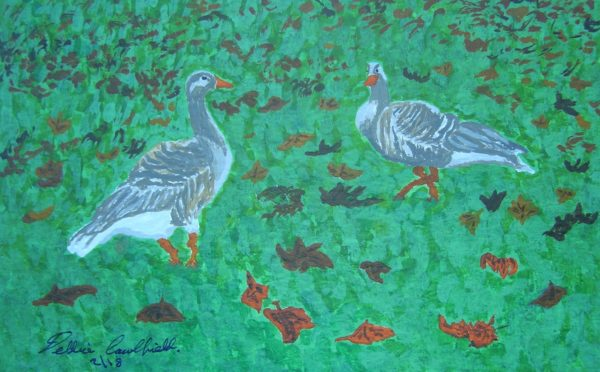 Autumn Geese by Autumn Squirrels