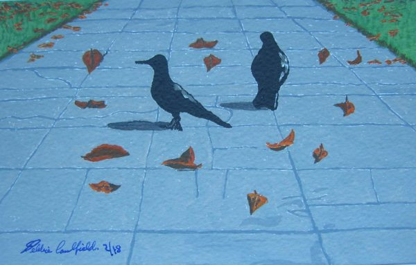 Autumn Pigeons by Autumn Squirrels