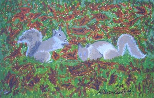 Autumn Squirrels by Deborah Caulfield