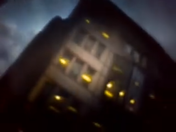 City of the Dead, still taken from video shot with phone camera attached to homemade camera obscura by Drew Fox
