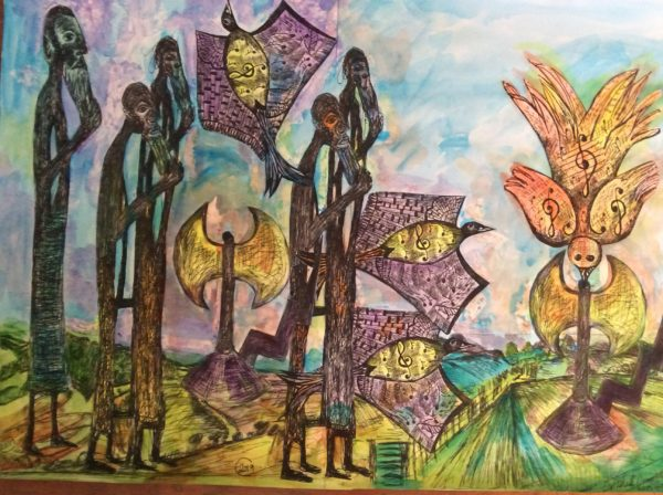 Africian dream 2 by The Baffallo series of Art