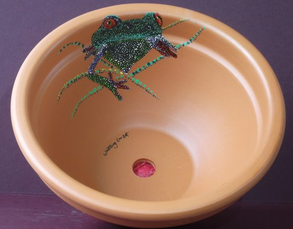 Frog in a Pot by Frog on timber