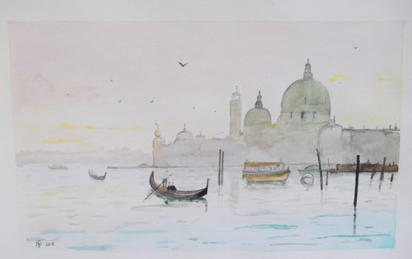 Morning Venice by Whistling Ear Art