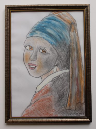 Girl with A Pearl Earring by Soldier Boy with Flute