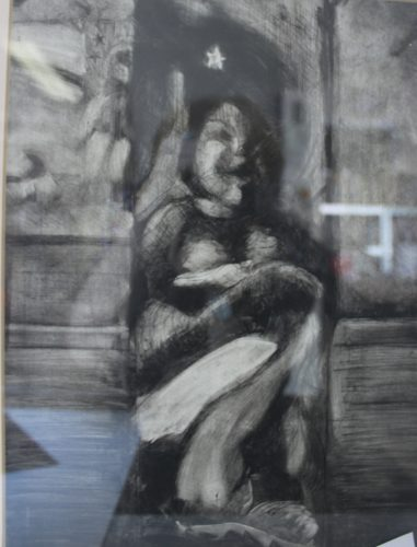 Dry point etching by L G
