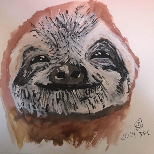 sloth by Jas Elbaccush