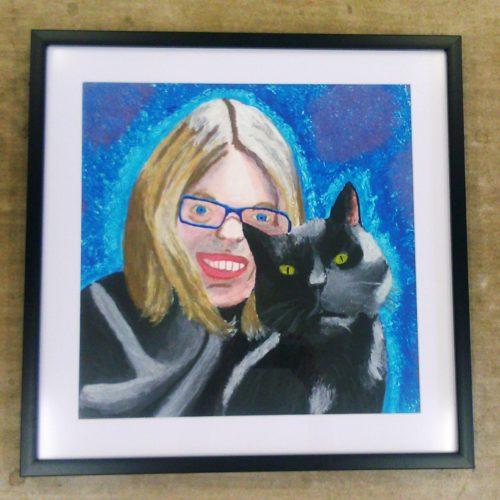 Painted-Self-Portrait.jpg by Chrissie Buckthorpe