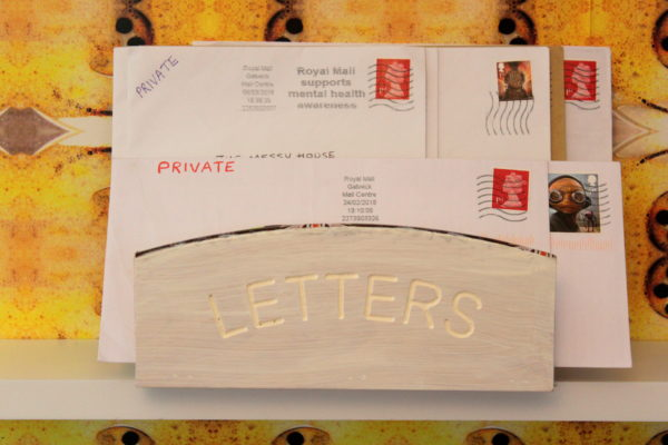 Dirty Letters (detail from My Dirty Secret pop-up panel) by Kristina Veasey