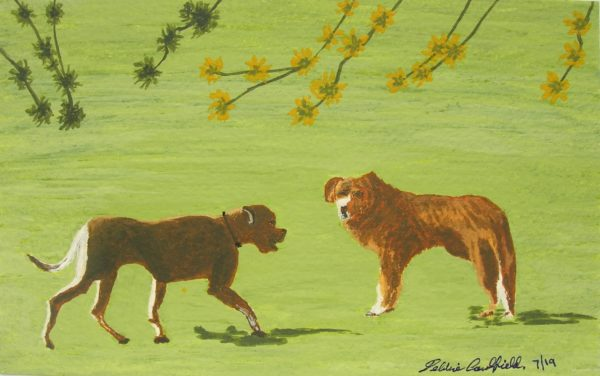 Spring Dogs by Autumn Squirrels