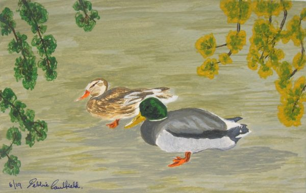 Spring Ducks by Deborah Caulfield