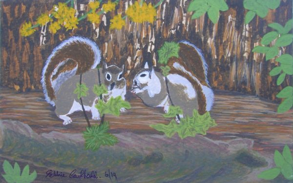 Spring Squirrels by Winter Ducks